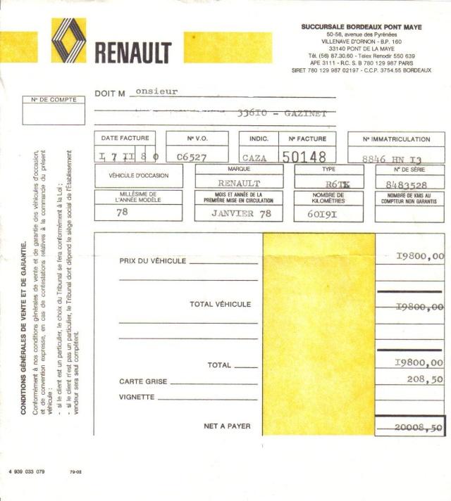 La renault 6 topic officiel page 13 oldies for Achat voiture occasion carte grise garage