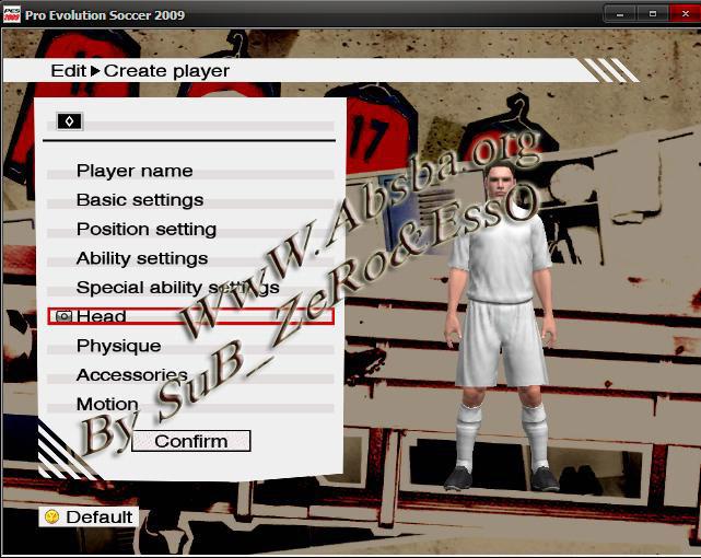 حصريا طريقة عمل لاعب بشخصيتك فى العاب pes 9,10,11,12,13 بحقوق المشاغب
