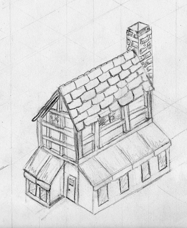 En perspective for Apprendre a dessiner une maison en perspective