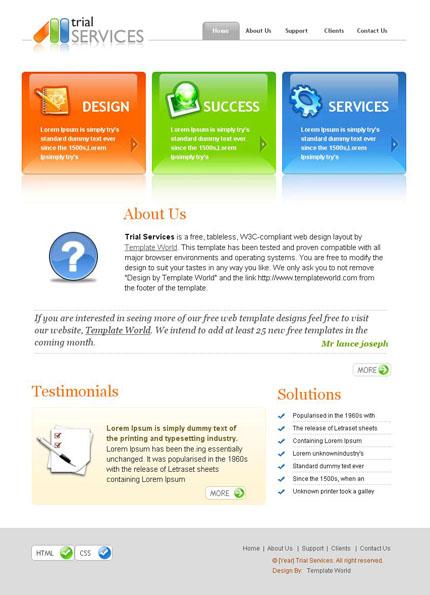 50 beautiful Web 2.0 templates