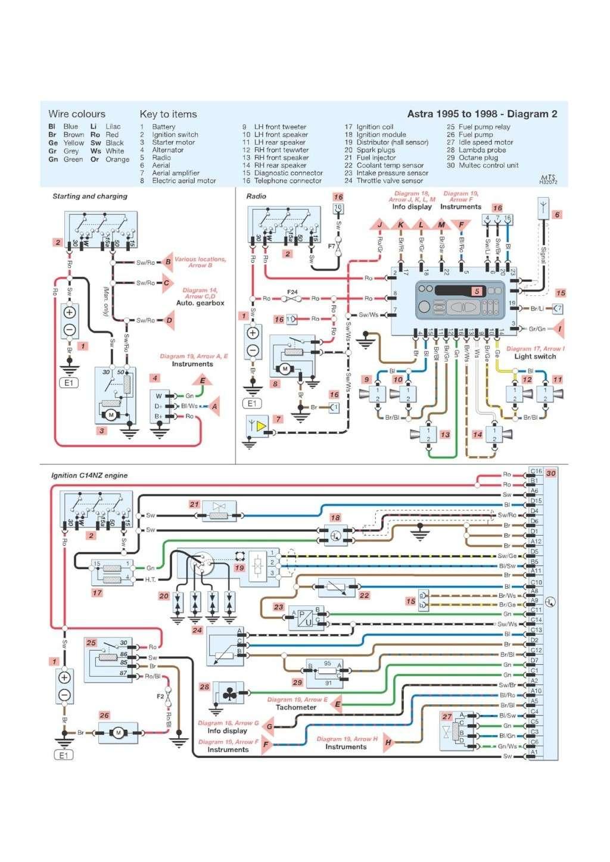 Schema Elettrico Opel Astra F : Schema impianto elettrico opel astra g
