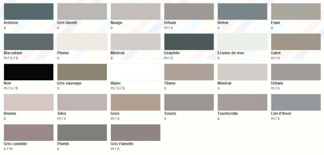 Nuancier colours castorama for Ton de gris peinture