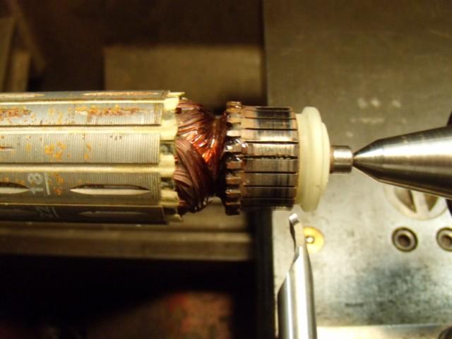 nettoyage cgarbon et collecteur sur perceuse