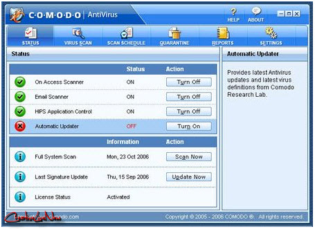 Comodo AntiVirus 4.1.150349.920 x86 and x64