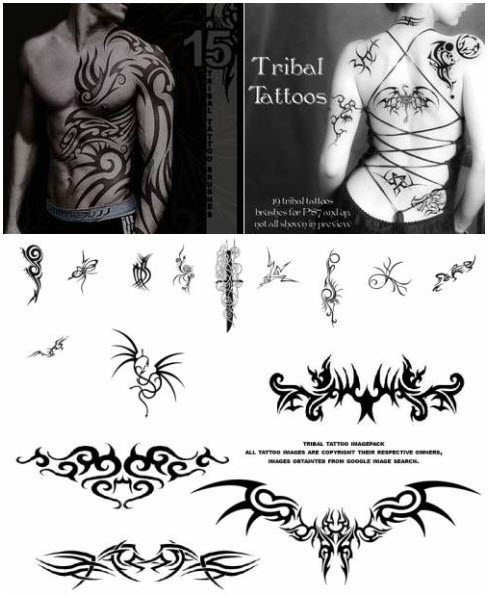 Brushes for Photoshop - Tattoo