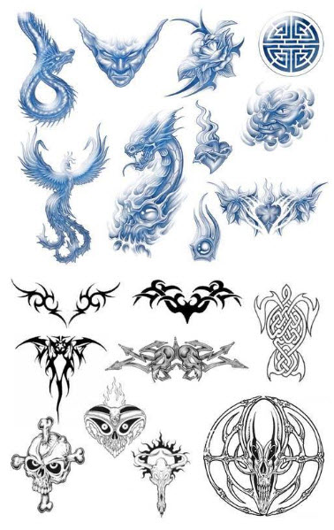 MegaPack Tattoo Brushes for Photoshop