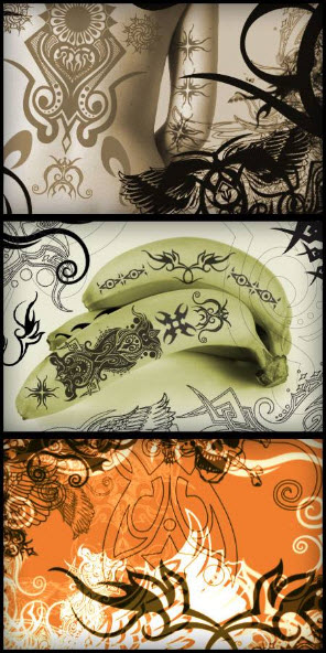 23 Tattoo HQ Photoshop Brushes