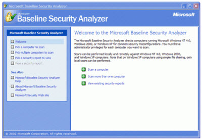 Microsoft Baseline Security Analyzer 2.2