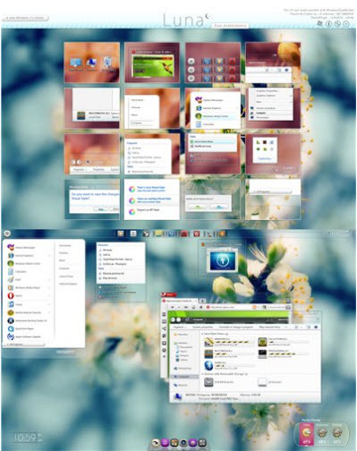 White Luna Theme for Windows 7