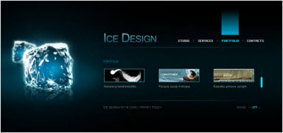 Ice Design - Flash Site Template