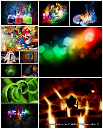 200 Colorful, Abstract & 3D Hi-Res Wallpapers (Part 2)