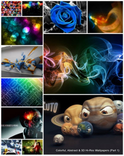 200 Colorful, Abstract & 3D Hi-Res Wallpapers (Part 1)