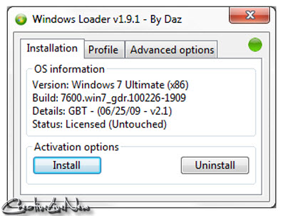 Windows Loader v1.9.1-DAZ