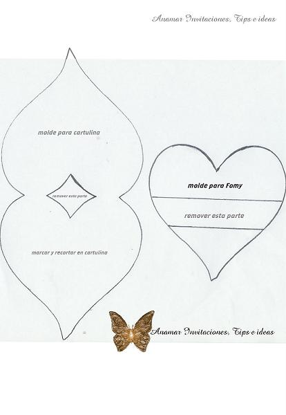 Molde de tarjeta en forma de cajita - Imagui