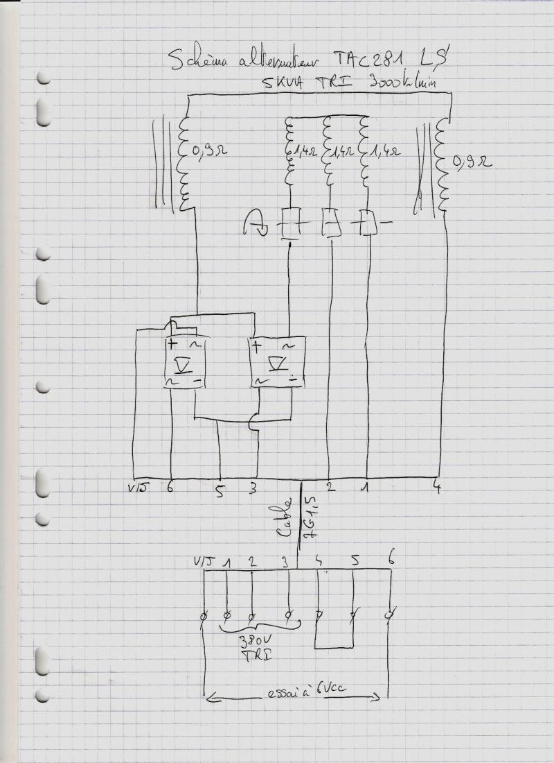 schema electrique groupe electrogene triphase