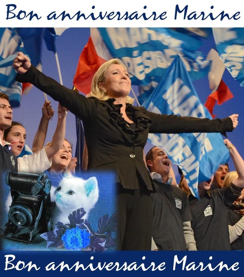 Joyeux Anniversaire Chere Marine Forum Politique Org