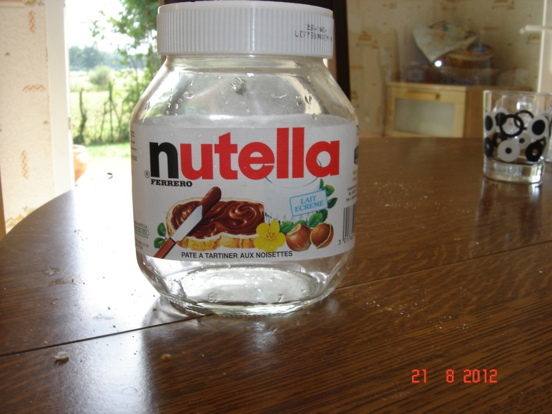 Pot de nutella 1kg 50 sur la carte - Lampe pot de nutella ...