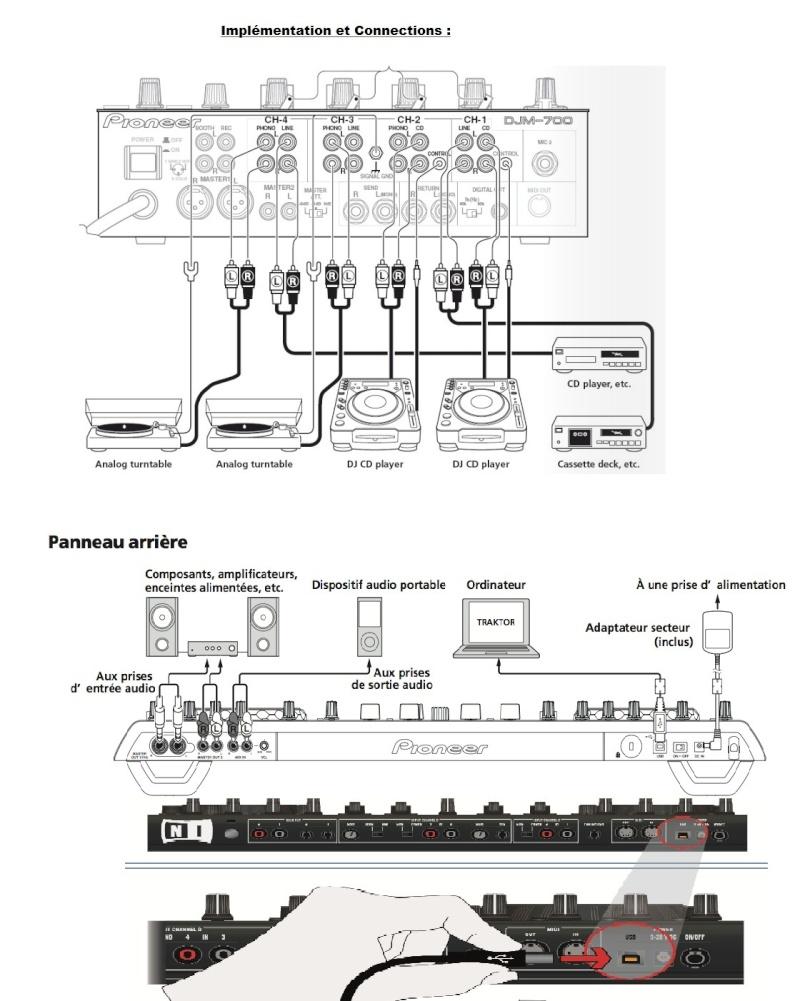 Branchement platines et controleur - Branchement enceinte amplifiee table mixage ...