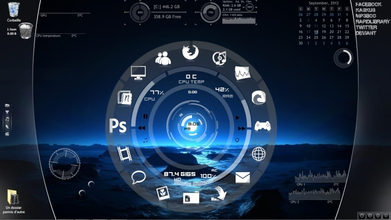 Tutoriel installation de rainmeter et utilisation for Bureau windows 7 rainmeter