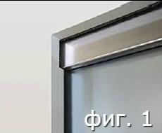 Адаптер за стъклени врати с профил от неръждаема стомана