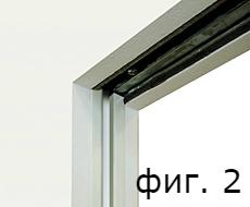 части от насрещния елемент и държача на четките в боядисан PVC покрит алуминий