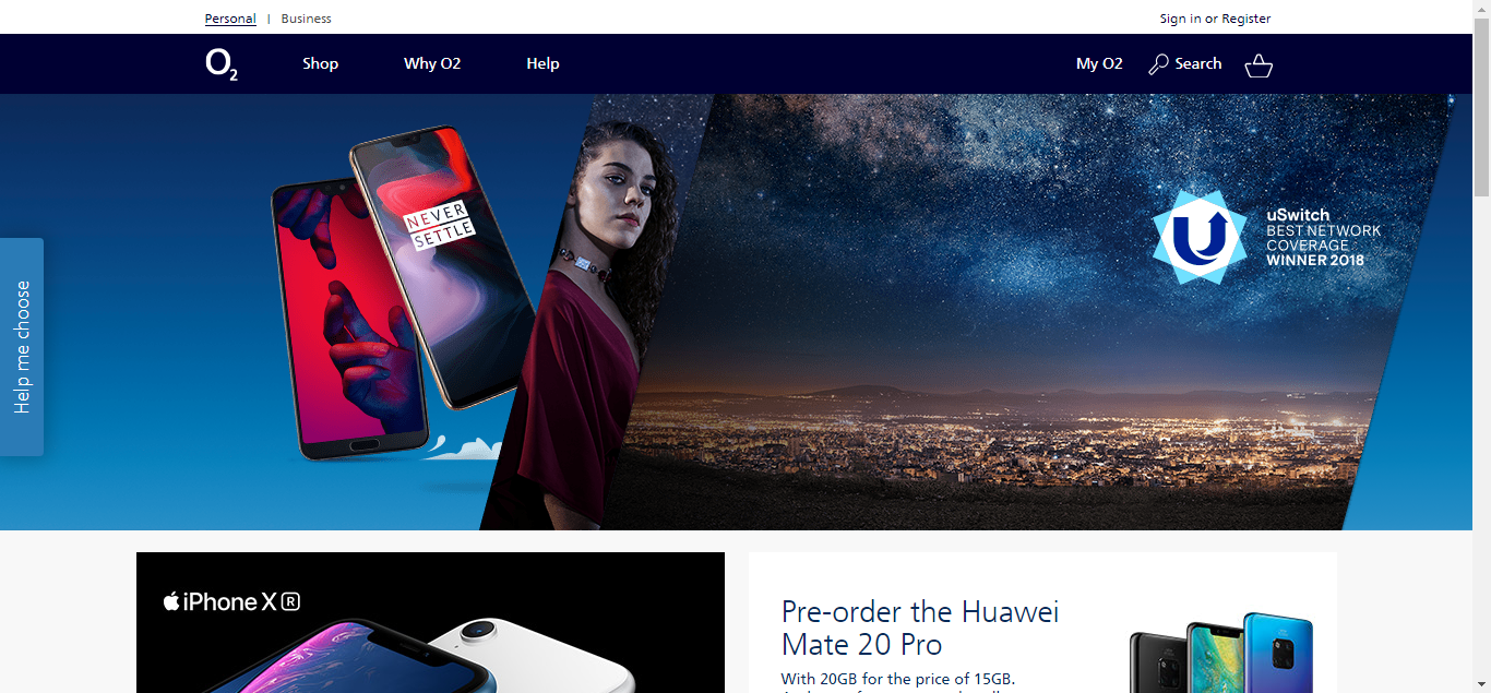 O2 is a leading provider of mobile phones